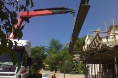 """חיזוק לתוספת בניה ע""""י קורת HEB 400 באורך 9.3 מטר"""