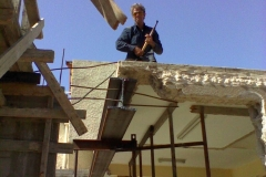 חיתוך הקורה למידה הנכונה על מנת שלא תבלוט מיציקת הקיר החדש