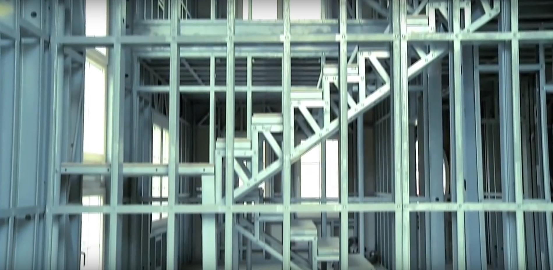 שלד פלדה מדרגות